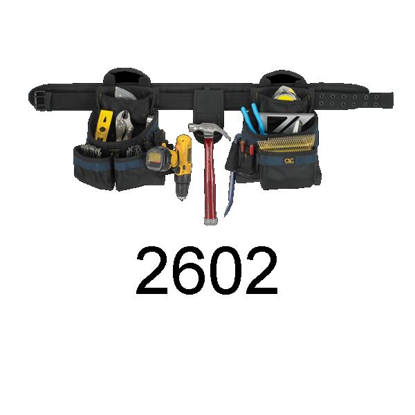 CLC 2602 17 Pocket 4-Piece Framer's Ballistic Combo