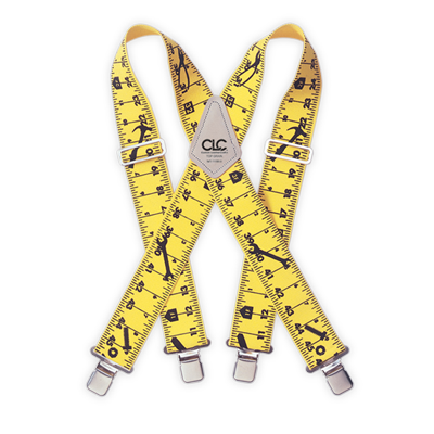 CLC 110RUL Heavy-Duty Tape Rule Elastic Suspenders