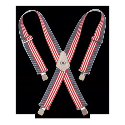 CLC 110USA Heavy-Duty USA Flag Elastic Suspenders