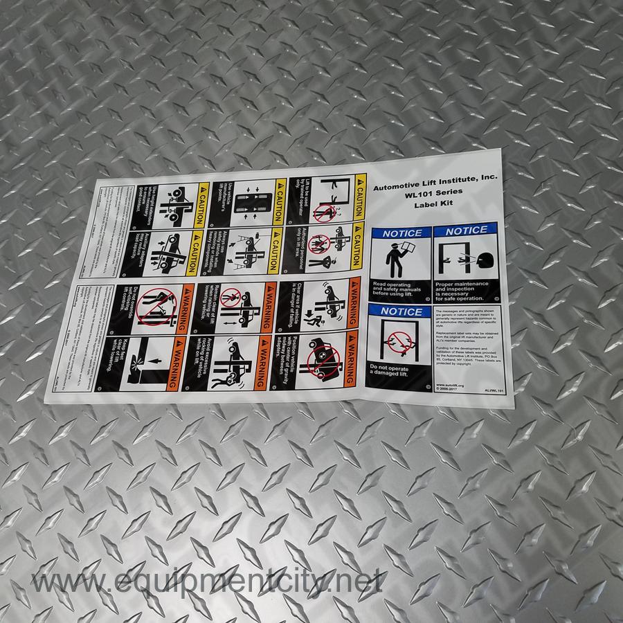 Challenger Z31243 ALI Warning Label Set 2-Post