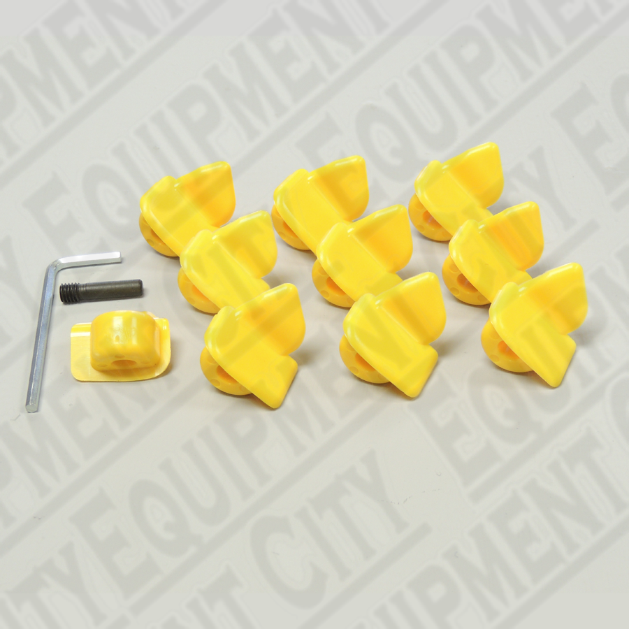 8-11100106 Corghi Yellow Plastic Inserts | Set of 10