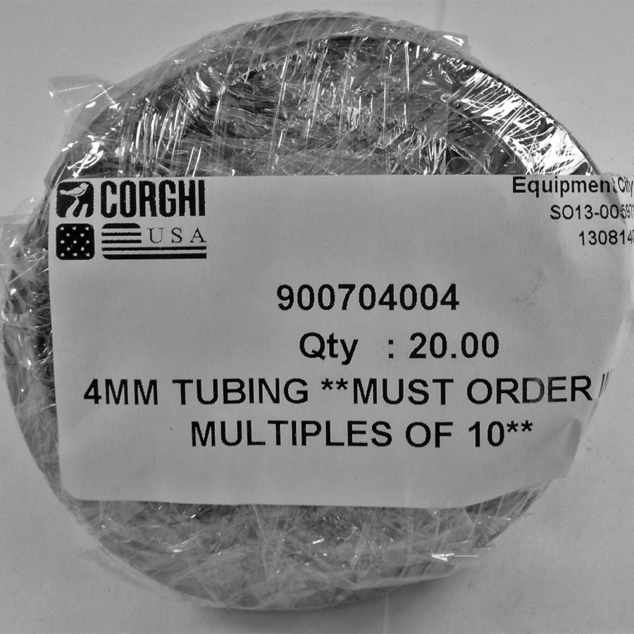 900704004  Corghi 4MM TUBING **MUST PURCHASE IN MULTIPLES OF 10** (Replaces 900704035 and 1-04035)