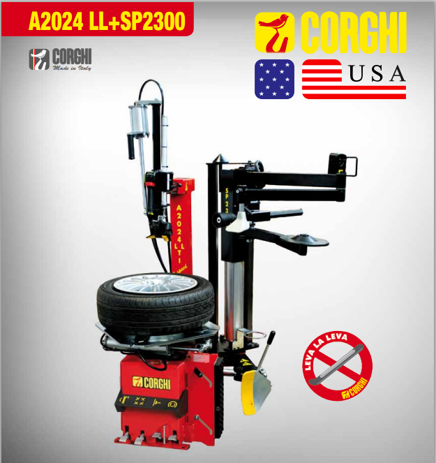 Leverless Passenger Tire Changer with SP2000 Electric