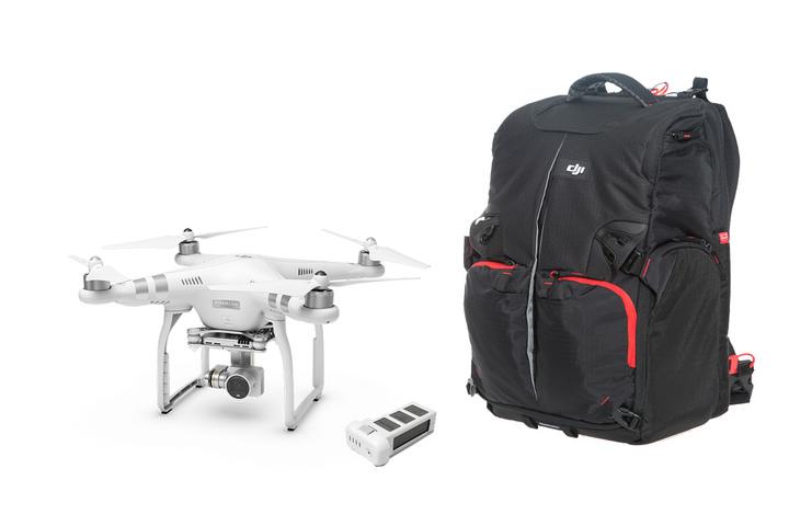 DJI Phantom 3 Advanced + Extra Battery +Phantom Backpack