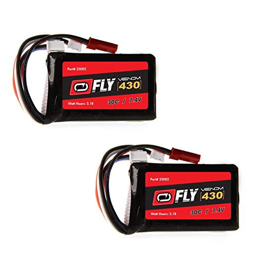 Venom Fly 430mah 2S 7.4v 30C JST Lipo Battery