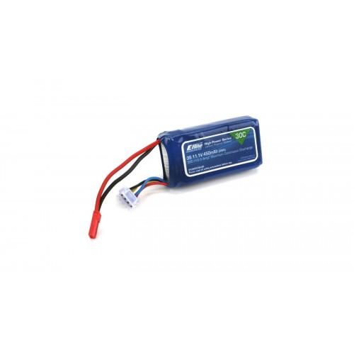 E-Flite 450mAh 3s 11.1V 30C Lipo w/ 18AWG JST