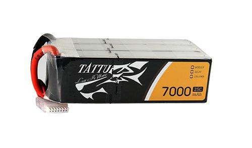 Tattu 25C 22.2V 6S 7000mAh Lipo Battery Pack with XT60 plug | TA-25C-7000-6S1P-XT60