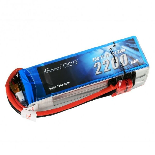 GensAce 2200mAh 11.1V 25C 3S1P Lipo Battery Pack with Deans Plug
