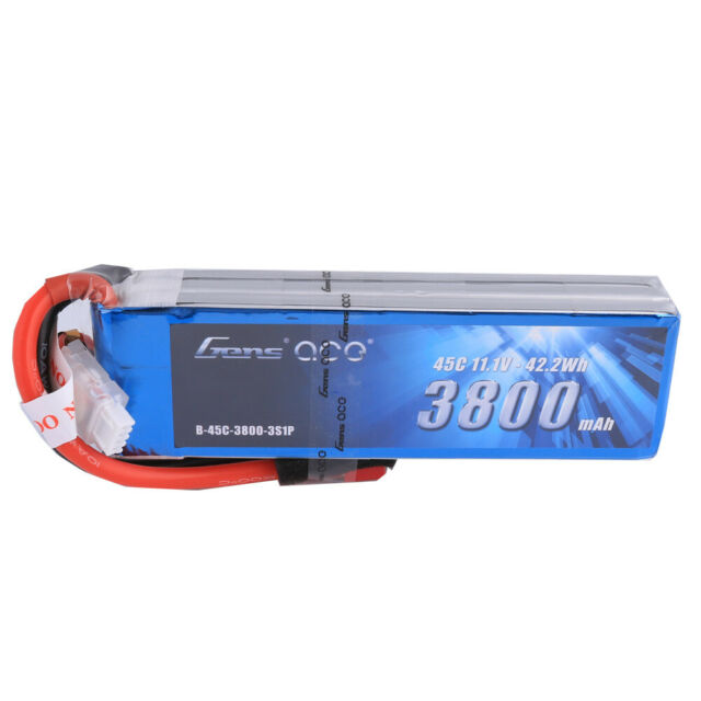 Gensace 3800mah 11.1V 45C 3S1P Lipo Battery Pack with Deans Plug