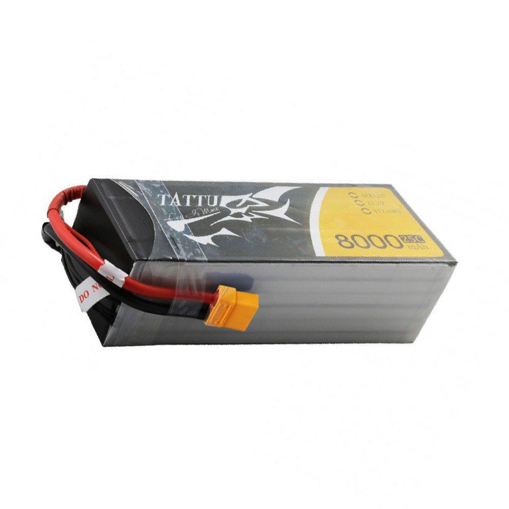 Tattu 8000mah 6S 22.2V 25C Lipo Battery Pack with XT60 plug | TA-25C-8000-6S1P-XT60