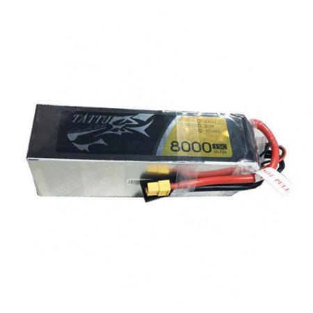 Tattu 8000mAh 22.2V 15C 6S1P Lipo Battery Pack with XT60 plug | TA-15C-8000-6S1P-XT60