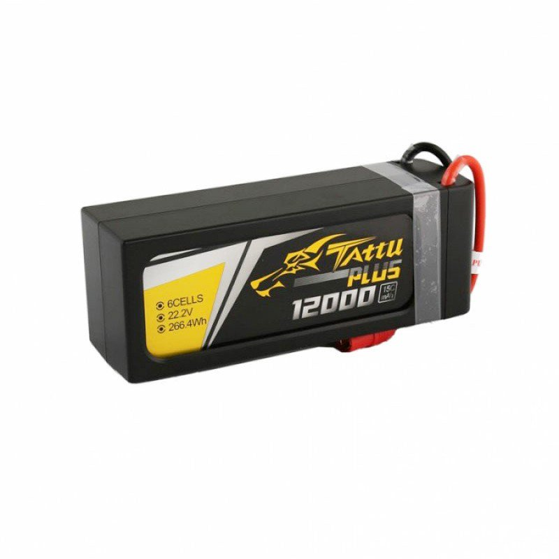 Tattu Plus 12000mAh 22.2V 15C 6S1P Lipo Smart Battery Pack with EC5 plug | TA-PLUS-15C-12000-6S1P-EC5