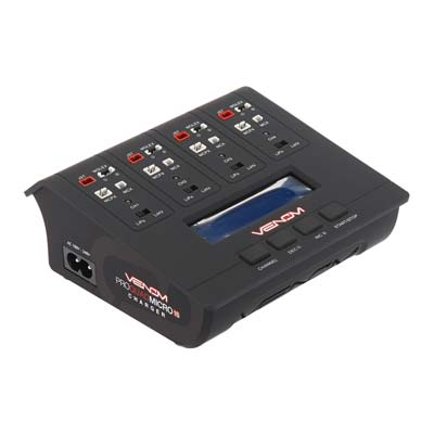 Pro Quad Micro 1S 4 Channel AC/DC LiPo and LiHV Charger