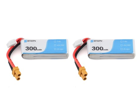 BetaFPV 300mAh 2S Battery (2pcs)