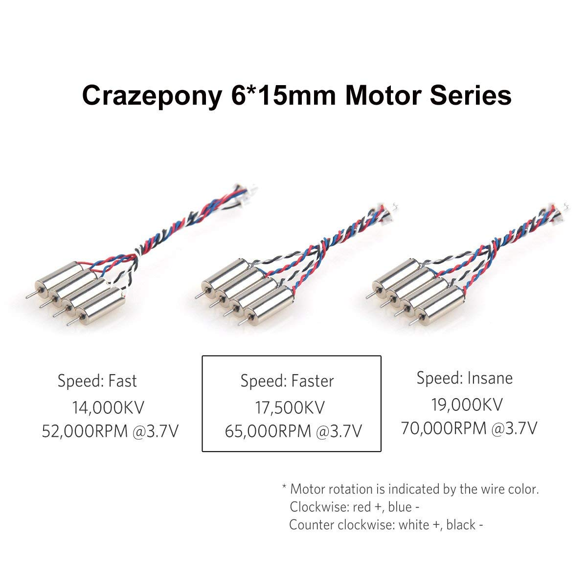 CrazyPony 6x15mm Tiny Whoop Motors - Special Sauce | 17,500kv