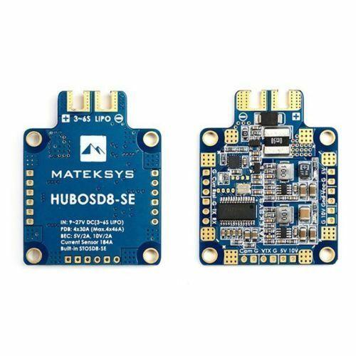 Matek Systems Hubosd8-se W/stosd8-se Current Sensor Dual BEC 6s Max Multirotor