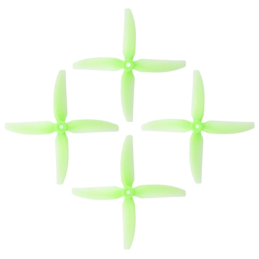 HQProp DP 5x4x4 PC V1S Light Green Propeller - 4 Blade ( Set of 4 - PC )