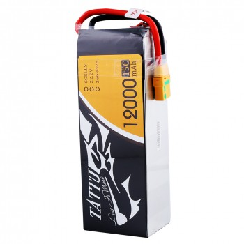 Tattu 12000mAh 6S1P 15C Lipo Battery Pack with XT90 plug | TA-15C-12000-6S1P-XT90