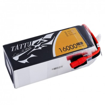 Tattu 16000mAh 15C 6S1P Lipo Battery Pack with AS150 +XT150 plug | TA-15C-16000-6S1P-AS150