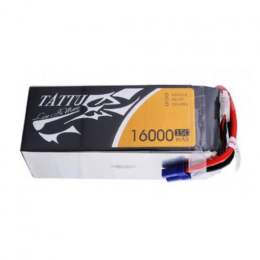 Tattu 16000mAh 6S1P 15C Lipo Battery Pack with EC5 plug | TA-15C-16000-6S1P-EC5