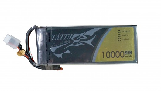Tattu 10000mAh 14.8V 25C 4S1P Lipo Battery Pack without plug