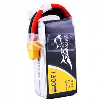 Tattu 1300mAh 4S 75C lipo battery pack with XT60 plug | TA-75C-1300-4S1P-XT60