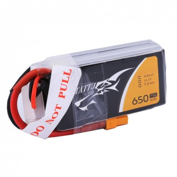 Tattu 650mAh 3S1P 75C 11.1V Lipo Battery Pack with XT30 Plug | TA-75C-650-3S1P-XT30