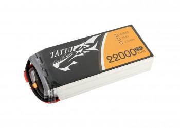 Tattu 22000mAh 14.8V 25C 4S1P Lipo Battery Pack without plug (no plug) | TA-25C-22000-4S1P
