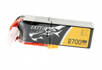 Tattu 2700mAh 3S1P 25C 11.1V Lipo Battery Pack with XT60 Plug | TA-25C-2700-3S1P-XT60