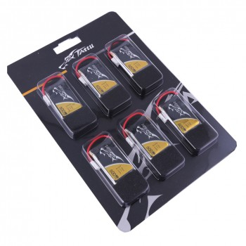 Tattu 25C 1S 3.7 v 600mah Lipo Battery Pack with Molex Plug ( 6pcs) | TA-25C-600-1S1P-6pcs
