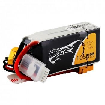 Tattu 1050mAh 14.8V 45C 4S1P Lipo Battery Pack with XT60 plug | TA-45C-1050-4S1P-XT60