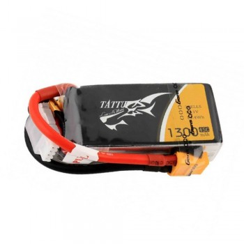 Tattu 1300mAh 45C 3S1P 11.1V Lipo Battery Pack with XT60 plug | TA-45C-1300-3S1P-XT60