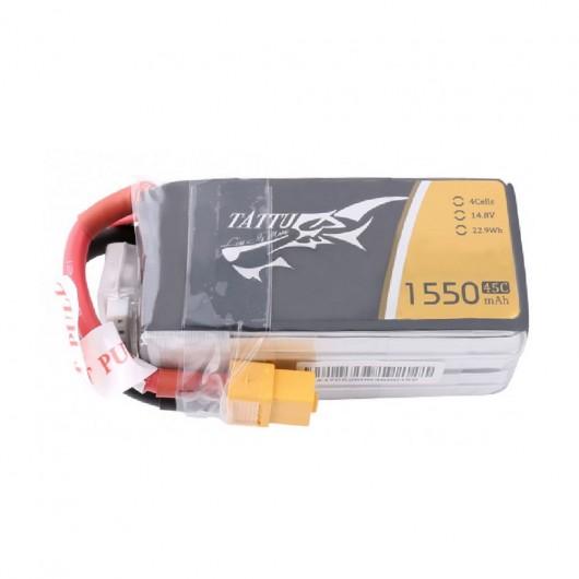 Tattu 1550mAh 45C 4S1P Lipo Battery Pack with XT60 plug | TA-45C-1550-4S1P-XT60