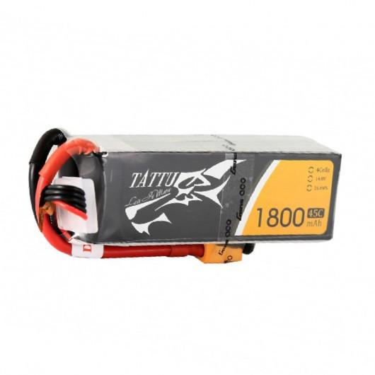 Tattu 1800mAh 45C 4S1P Lipo Battery Pack with XT60 Plug | TA-45C-1800-4S1P-XT60