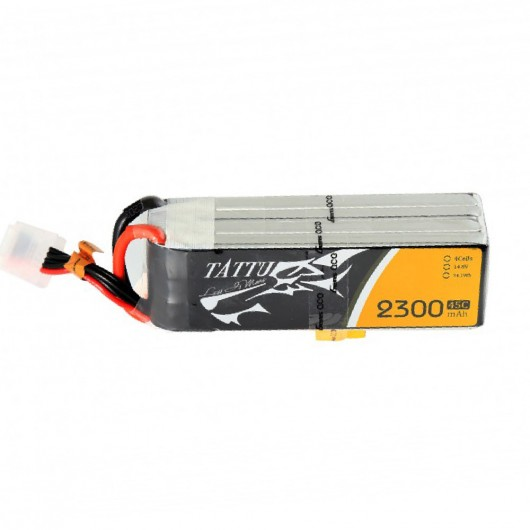 Tattu 2300mAh 45C 4S1P Lipo Battery Pack with XT60 plug | TA-45C-2300-4S1P-XT60