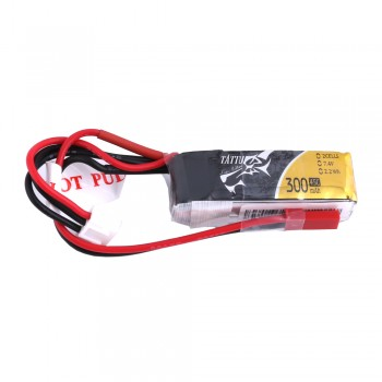 Tattu 300mAh 7.4V 45C 2S1P Lipo Battery Pack with JST-SYP Plug | TA-45C-300-2S1P-JST