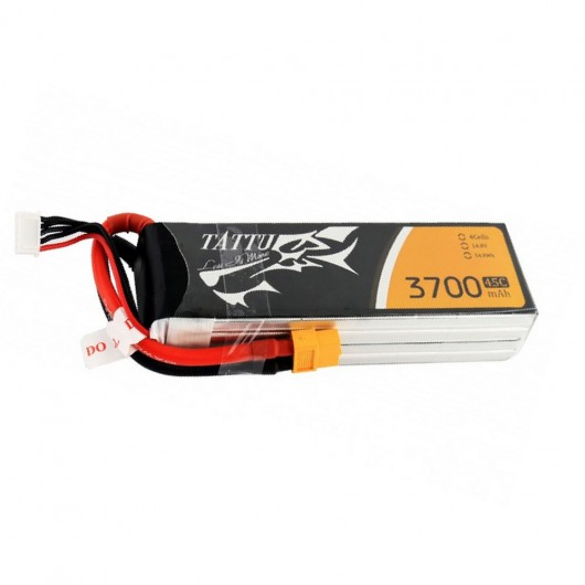 Tattu 3700mAh 45C 4S1P Lipo Battery Pack with XT60 plug | TA-45C-3700-4S1P-XT60