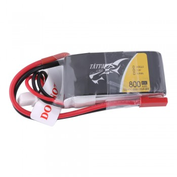Tattu 800mAh 7.4V 45C 2S1P Lipo Battery Pack with JST-SYP Plug | TA-45C-800-2S1P-JST