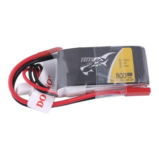 Tattu 800mAh 7.4V 45C 2S1P Lipo Battery Pack with JST-SYP Plug | TA-45C-800-2S1P-JST
