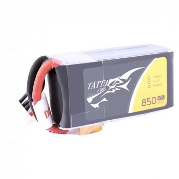 Tattu 850mAh 11.1V 45C 3S1P Lipo Battery Pack with XT30 plug | TA-45C-850-3S1P-XT30