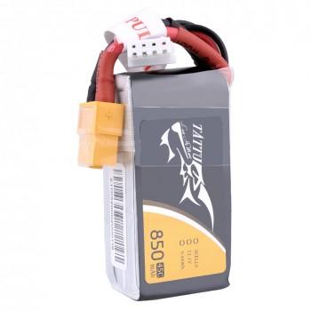 Tattu 850mAh 11.1V 45C 3S1P Lipo Battery Pack with XT60 plug | TA-45C-850-3S1P-XT60