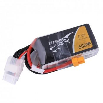 Tattu 650mAh 4S1P 75C 14.8V Lipo battery with XT30 plug | TA-75C-650-4S1P-XT30