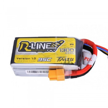 Tattu R-Line 1300mah 4s 95c Lipo Battery Pack with XT60 Plug | TA-RL-95C-1300-4S1P