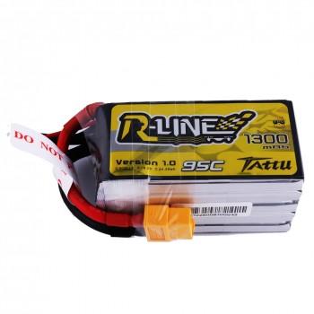 Tattu R-line 95c 5S 1300mah Lipo with XT60 Plug | TA-RL-95C-1300-5S1P