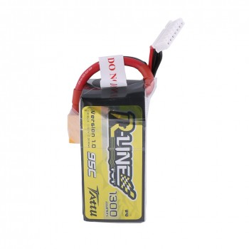 Tattu R-Line 1300mAh 95C 6S1P lipo battery pack with XT60 Plug | TA-RL-95C-1300-6S1P