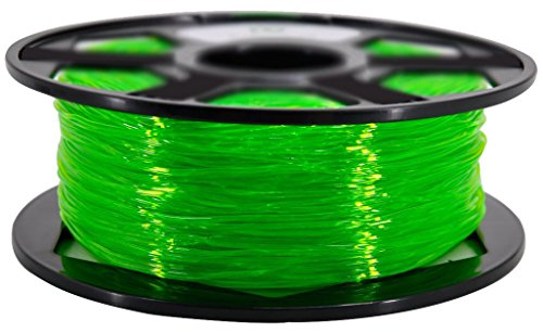 Translucent Green TPU 1.75 mm Filament 1KG Roll
