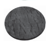 Replacement Rubber Pad for Ford Smith Lifts  OEM FS-203822  Round Thin Glue On  BH-7250-02T