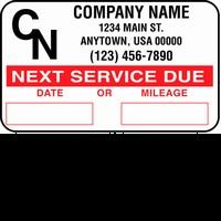 John Dow SCL-1000 Logo Service Reminder Sticker - Roll 1,000