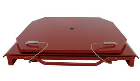 QSP 25-24 Heavy-Duty Truck Turnplates with Handles - RED
