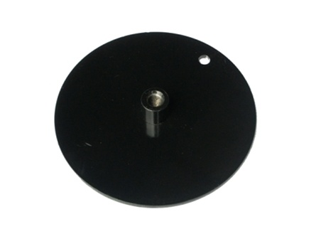 QSP 51-1754. 6.5'' Round Slide Plate- powder coated black  a perfect replacement for Hunter part# 51-1754